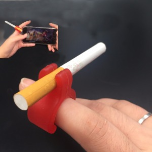 Silicone ring for smoking cigarette holder accessories