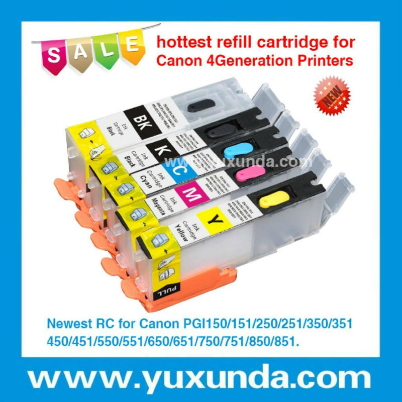 best quality ciss cartridge/ empty refill ink cartridge for Canon PGI450/CLI451 PGI550/CLI551with resettable chip