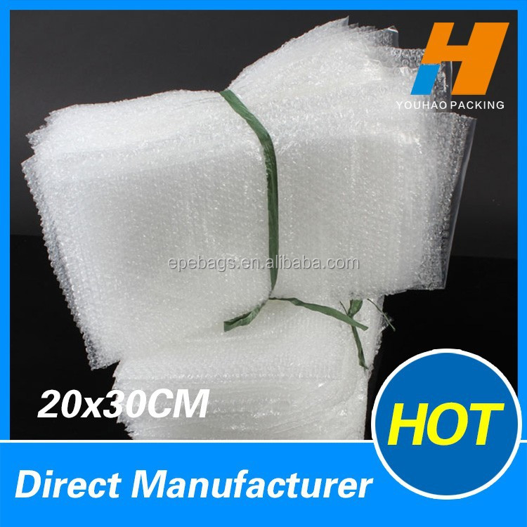20*30cm Clear Bubble Envelope Glass Bag For Transportation Packaging