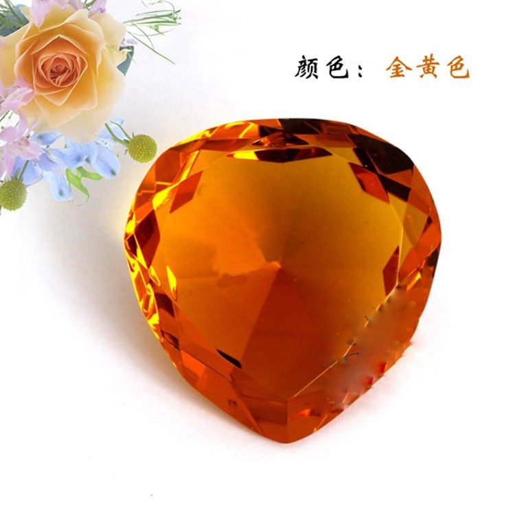 Artificial K9 Crystal Heart Shape Diamond Crystal Heart Decoration