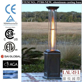 Decorative Glass Tube Outdoor LPG Gas Patio Heater