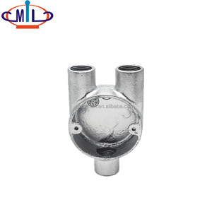 Malleable Hot Galvanized Conduit Y tee pipe fitting
