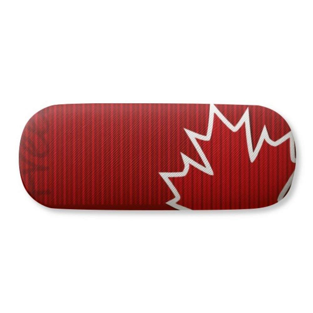 Canada Flavor Flag and Maple Leaf Glasses Case Eyeglasses Clam Shell Holder Storage Box