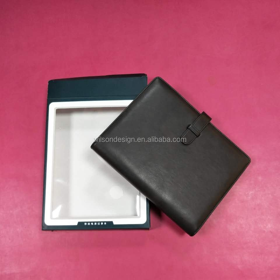 ring binder organizer planner notebook with power bank charger