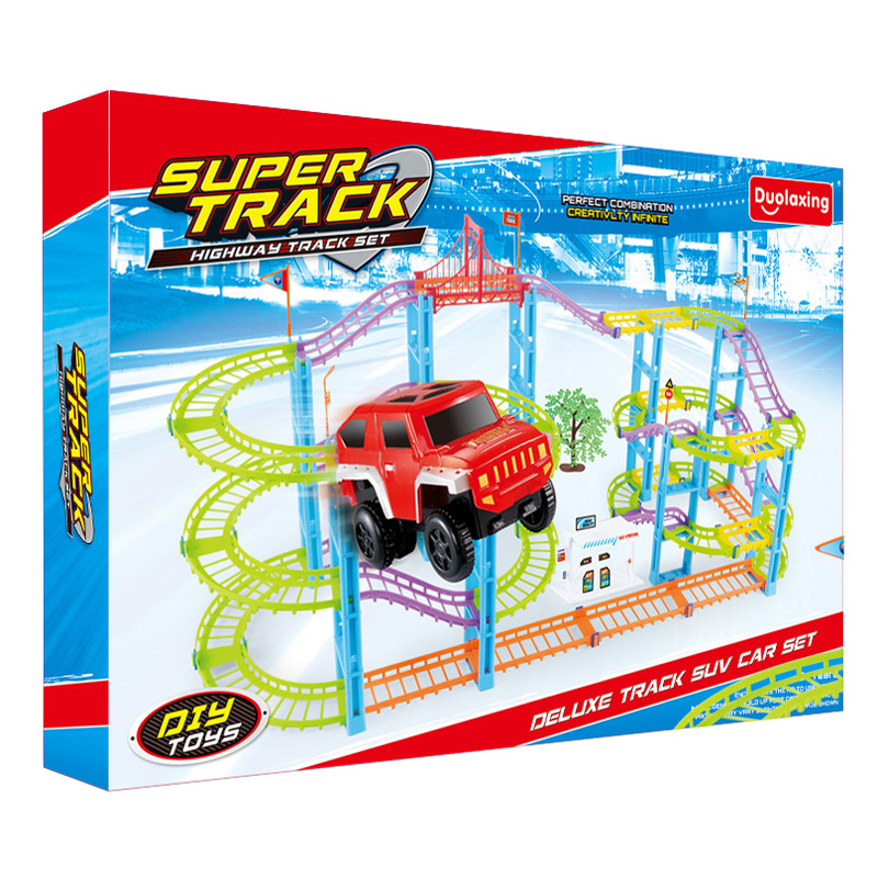 Popular 130 pcs electric slot car racing track set