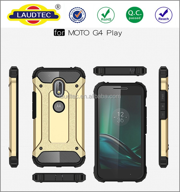2 in 1 Heavy Duty Rugged shockproof Armor back case for motorola moto g4 play