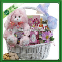 White wicker gift baskets wholesale