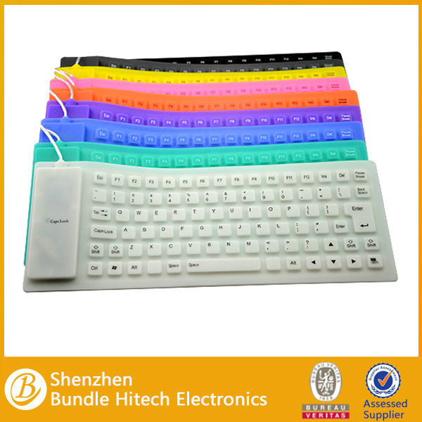 Portable Usb Silicone Flexible Keyboard For Apple Imac Computer ...