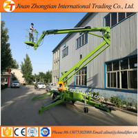 Articulated towable boom lift truck mounted hydraulic boom lift aerial work platform price