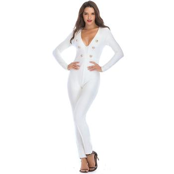 ca50cb524 New design elegant sexy jumpsuit ladies white jumpsuit romper womens for  sale