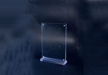 Square Acrylic display stand with board for advertising