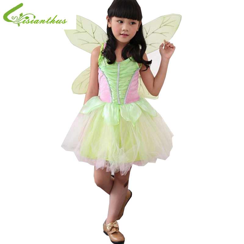Girls Halloween Costumes Tinker Bell font b Dress b font Cosplay Stage Wear Clothing Sets Kids