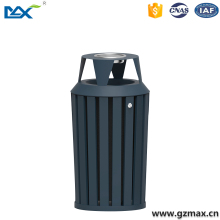 news high qualitycast iron 60l dustbin ,stainless steel dustbin with ashtry