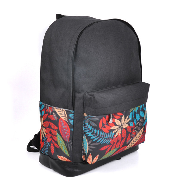colorful leaf nylon backpack