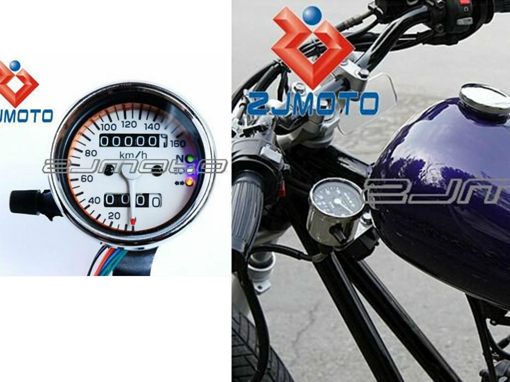 Universal Motorrad Tachometer Drehzahlmesser Mechanische Kilometerzähler