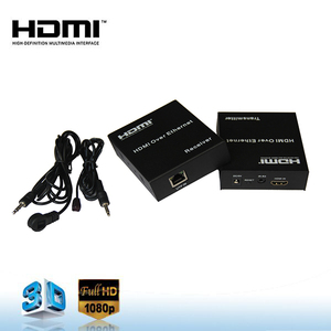 powerline hdmi super extender 120m by cat-5e/6 over Ethernet supports 1080P 3D with IR remote control