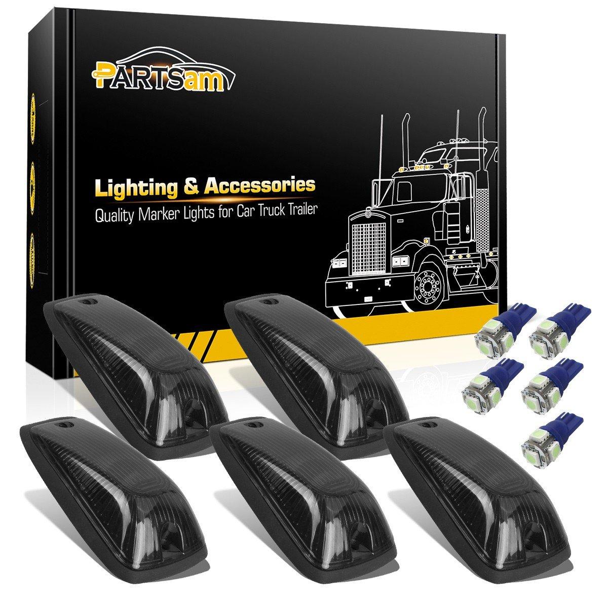 Buy Partsam Blue LED Bulbs T10 + T5 Instrument Panel Lights Gauge