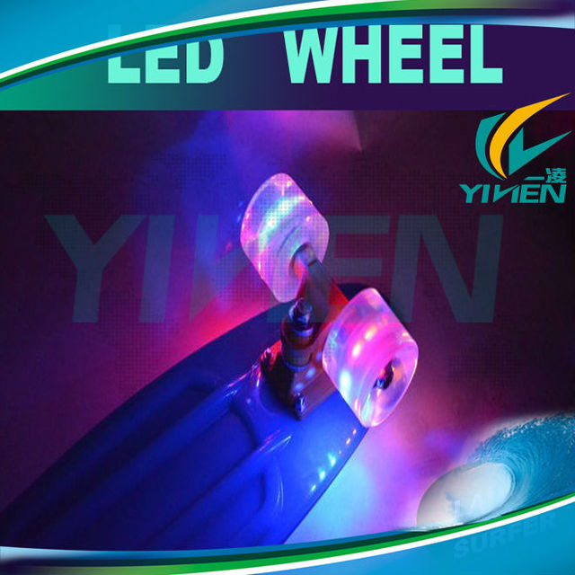 glowing skateboard led wheel