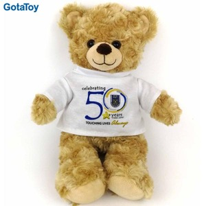 b414ef65fad Factory custom cheap standing plush teddy bear with t-shirts