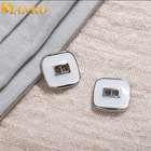 SANKO custom hollow 2 hole button white square shirt buttons shank