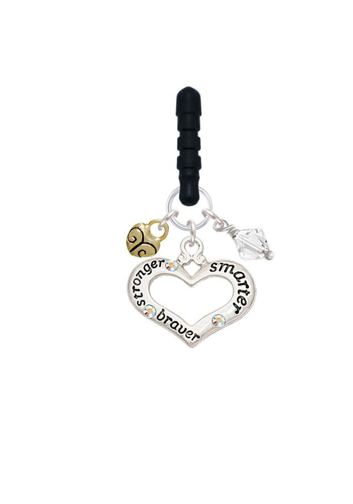 JewelsObsession Sterling Silver 21mm Floating Heart Charm w//Lobster Clasp