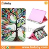 Oil Painting Tree Pattern Card Slot Side Flip TPU+ PU Leather waterproof Cases for Samsung Galaxy Tab S2 9.7 T810