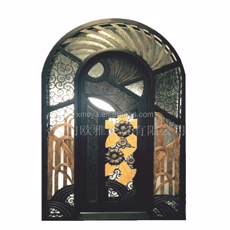 Antique And Luxury Steel Security Front Glass <strong>Door</strong> Designs