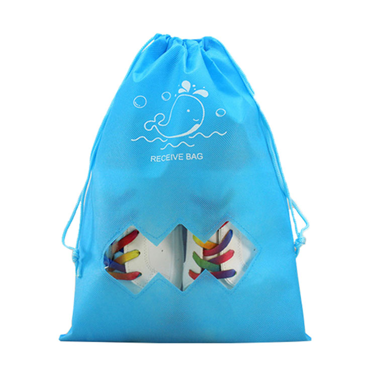 Waterproof Eco Friendly Red Non Woven Drawstring Bags