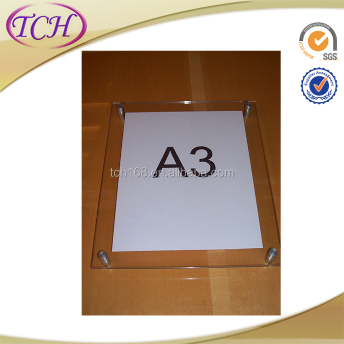 High Quality Cheap Acrylic Fridge Magnet Photo Frame
