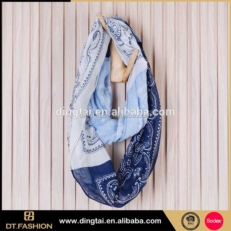 Customized cheap fashion china style tie-dyeing lady scarf with jewel