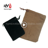 Profession manufacture custom high quality velvet jewelry bag