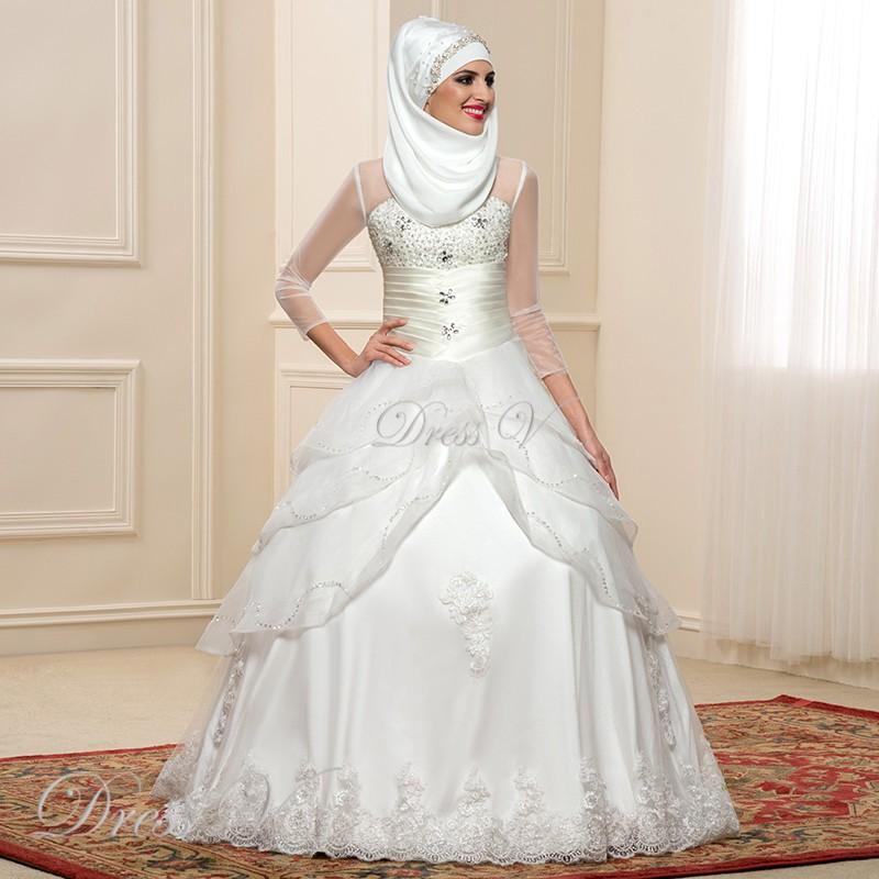 44433ac9232 Купить мусульманские свадебные платья в интернет магазине с ...