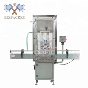Automatic liquid paste gas bottle filling machine used soft drink beverage water bottle filling machine with dust cover