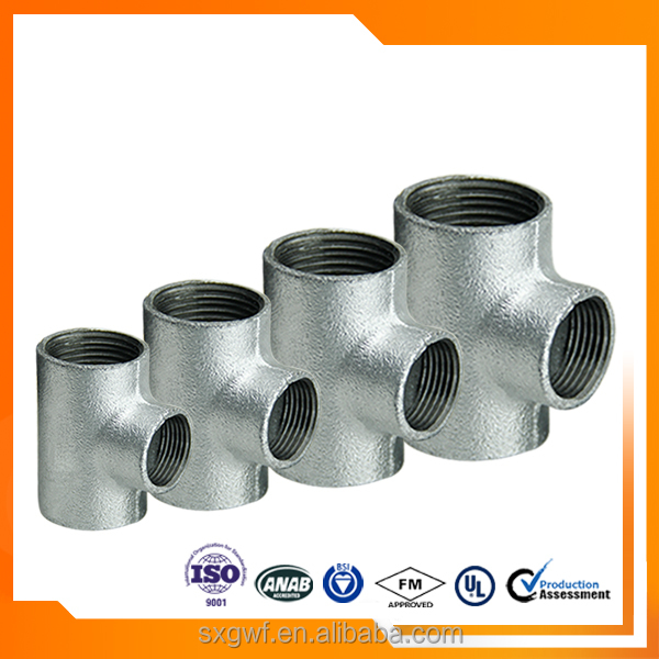 used widely pipe fitting HDG joint Tee