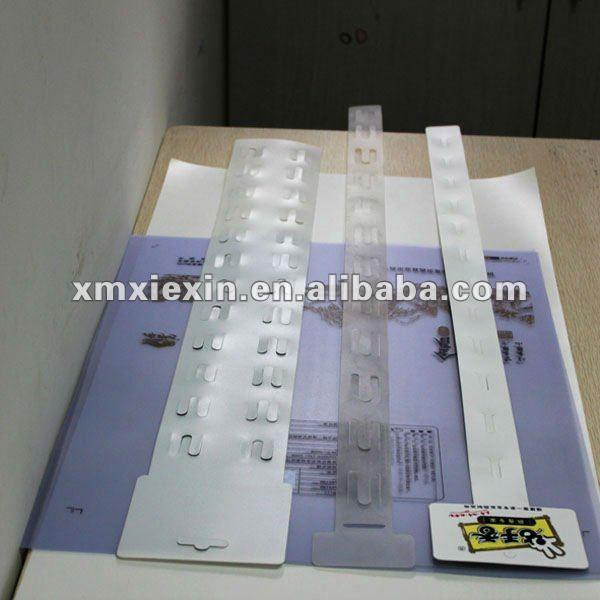 PP hang strip for supermarket display strip hang