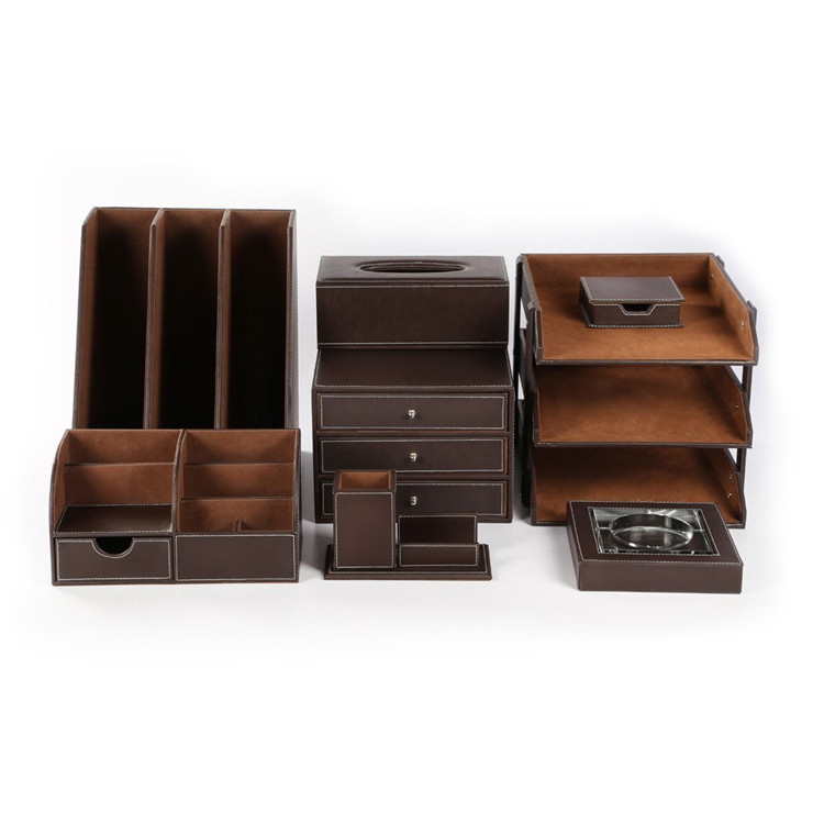 2017 Office Stationery Items Names Leather Luxury Office Desk Set   Buy  Luxury Office Desk Set,Leather Desk Organizer Set,Leather Office Desk Set  ...
