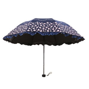 Hot Sale Custom Dragonfily Three Foldable Can Peacock Print 3 Folding Jaipur Umbrella With Cover