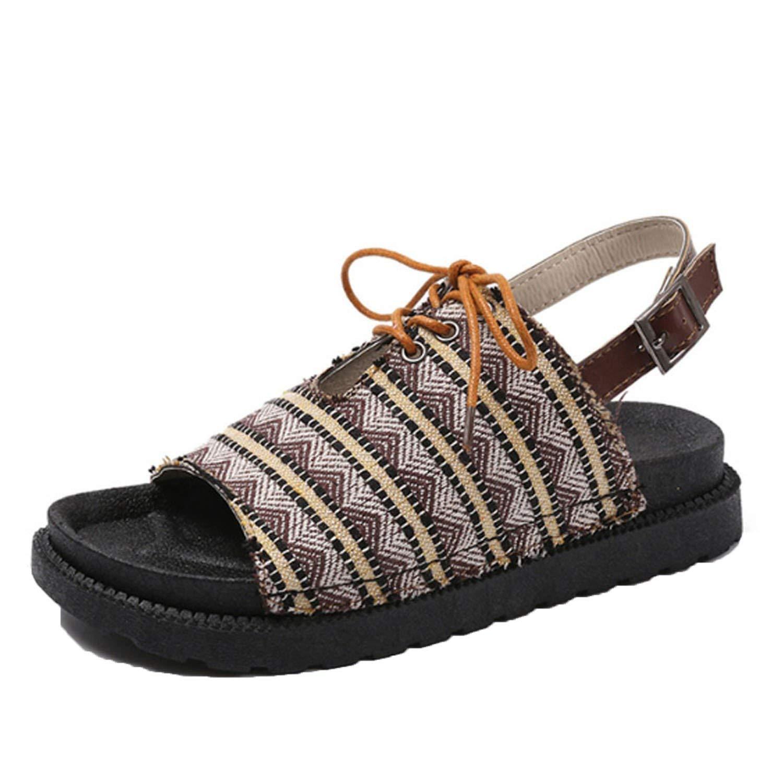 Women Platform Flat Sandals Casual Open Toes Sandals Bohemia Beach Sandals Shoes