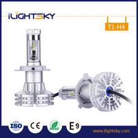 Factory price fashion car led headlight 12v 6500k 20w 1500lux 3600lm h4 led headlight bulbs with 3 Yr warranty