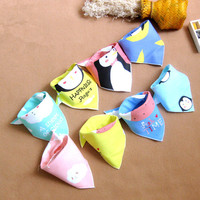Chinese Wholesale Unique Design Cotton Baby Bandana Bibs Lovely Penguin Printed Kids Bibs