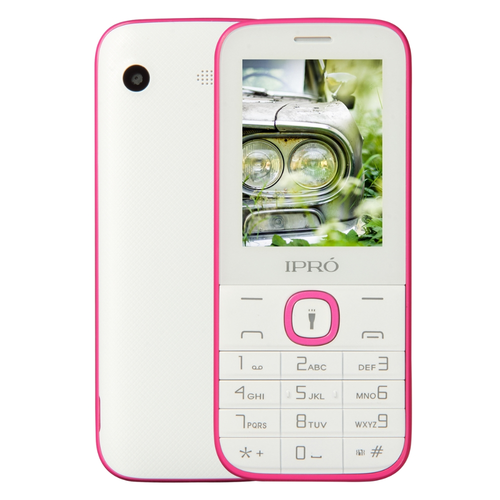 Certificated IPRO I324F 2.4 inch feature phones 2g Gsm Quad Band Korean Mobile Phone 1000 mAh Torch for Lationamerica