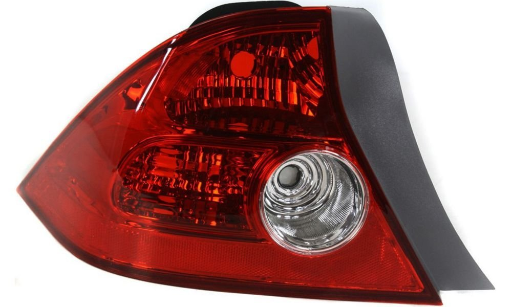 Evan-Fischer EVA15672041635 Tail Light for Honda Civic 04-05 LH Lens and Housing Coupe Left Side Replaces Partslink# HO2800155