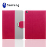 Red leather case for ipad mini, luxury more leather ipad,leather ipad case