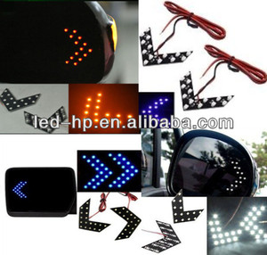 Safety SMD Car Turning Light Arrow Mirror Signal Lamp