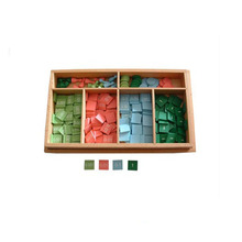 EN71 Certified Factory Supply wooden montessori math toys Decimal Stamp Game