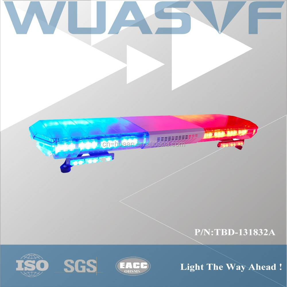 Blue,Red,White,Yellow,Green Police Car Led Light Bar