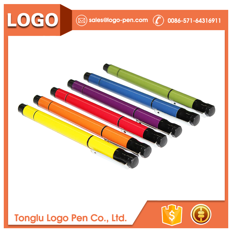 Most popular custom novel design ballpen with highlighter