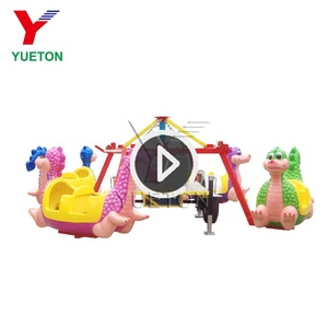 Kids Portable Carnival Games Attractions Amusement Park Dinosaur Rotation Rides Manufacturer For Sale