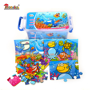 Wholesale high quality kids sea animal jigsaw paper puzzle games set