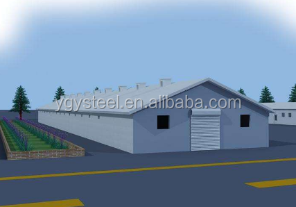 Prefabricated building Foam Cement Board broiler poultry farm house design